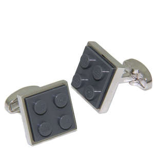 Grey LEGO® Brick Cufflinks from Cuffs & Co