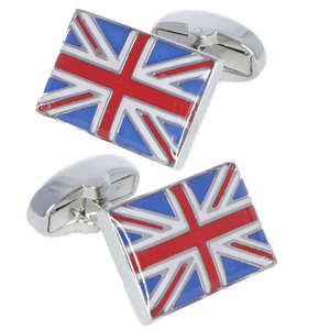 Union Jack Flag Cufflinks from Cuffs & Co