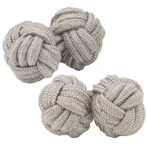 Light Brown Knot Cufflinks from Cuffs & Co