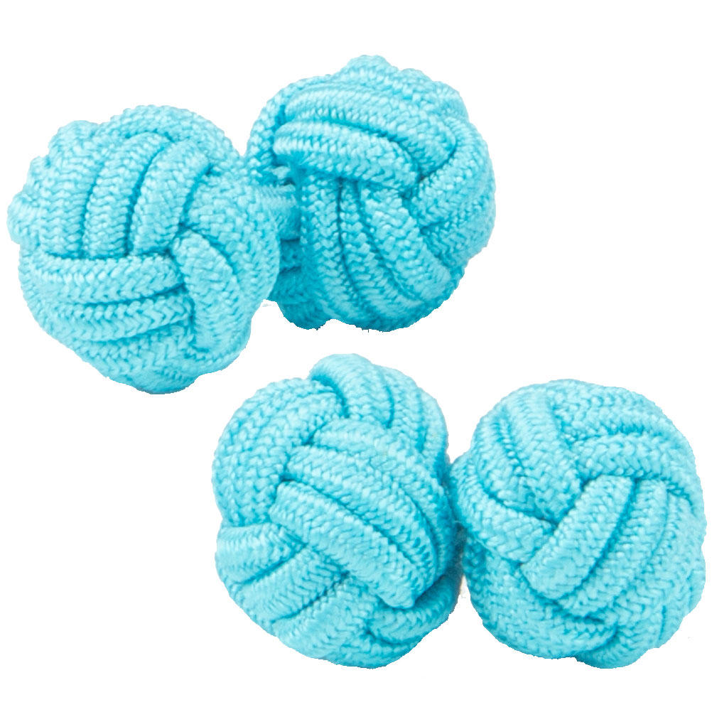 Turquoise Knot Cufflinks from Cuffs & Co