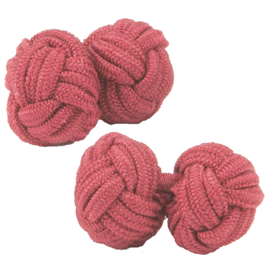 Claret Silk Knot Cufflinks from Cuffs & Co