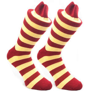 Claret & Lemon Stripy Socks | SOCK CLUB® from Cuffs & Co