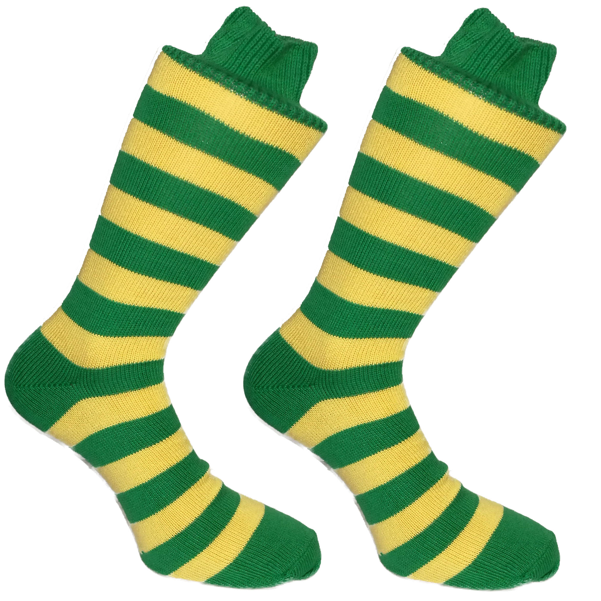 Green & Yellow Stripy Socks | SOCK CLUB® from Cuffs & Co