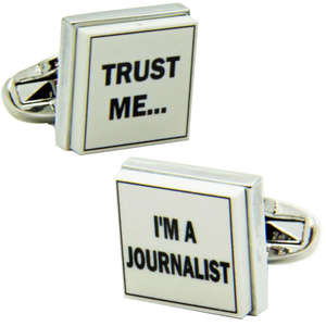 Trust Me I'm A Journalist Cufflinks from Cuffs & Co