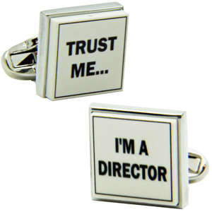 Trust Me I'm a Director Cufflinks from Cuffs & Co