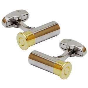 Shotgun Cartridge Bullet Cufflinks from Cuffs & Co