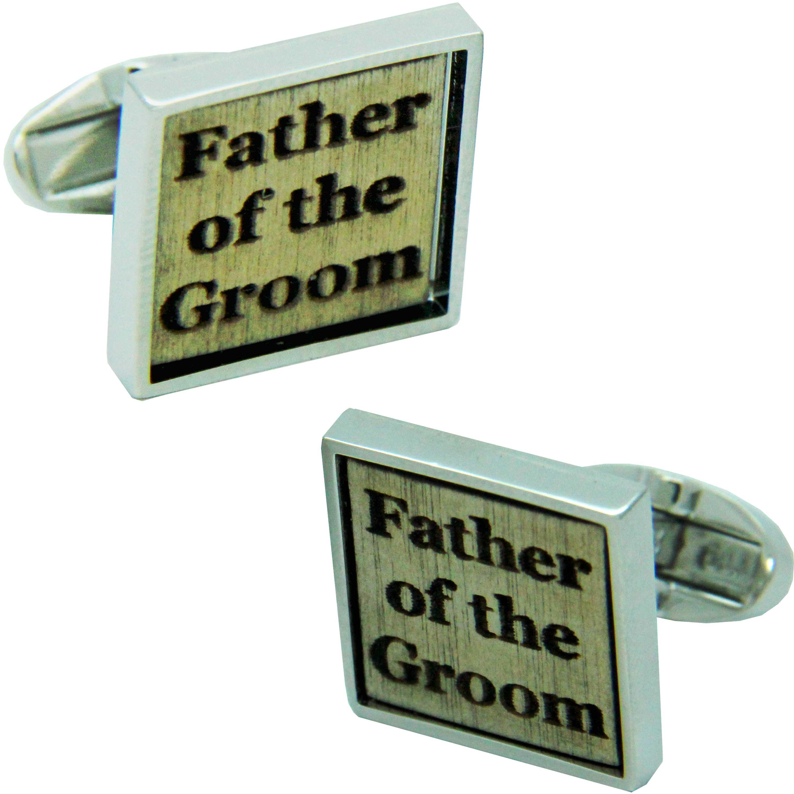 Birch Wood Father of the Groom Cufflinks from Cuffs & Co