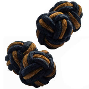 Black and Bronze Silk Knot Cufflinks from Cuffs & Co