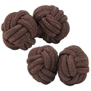 Rich Chocolate Knot Cufflinks from Cuffs & Co