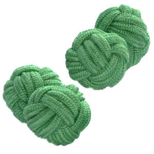 Light Green Knot Cufflinks from Cuffs & Co