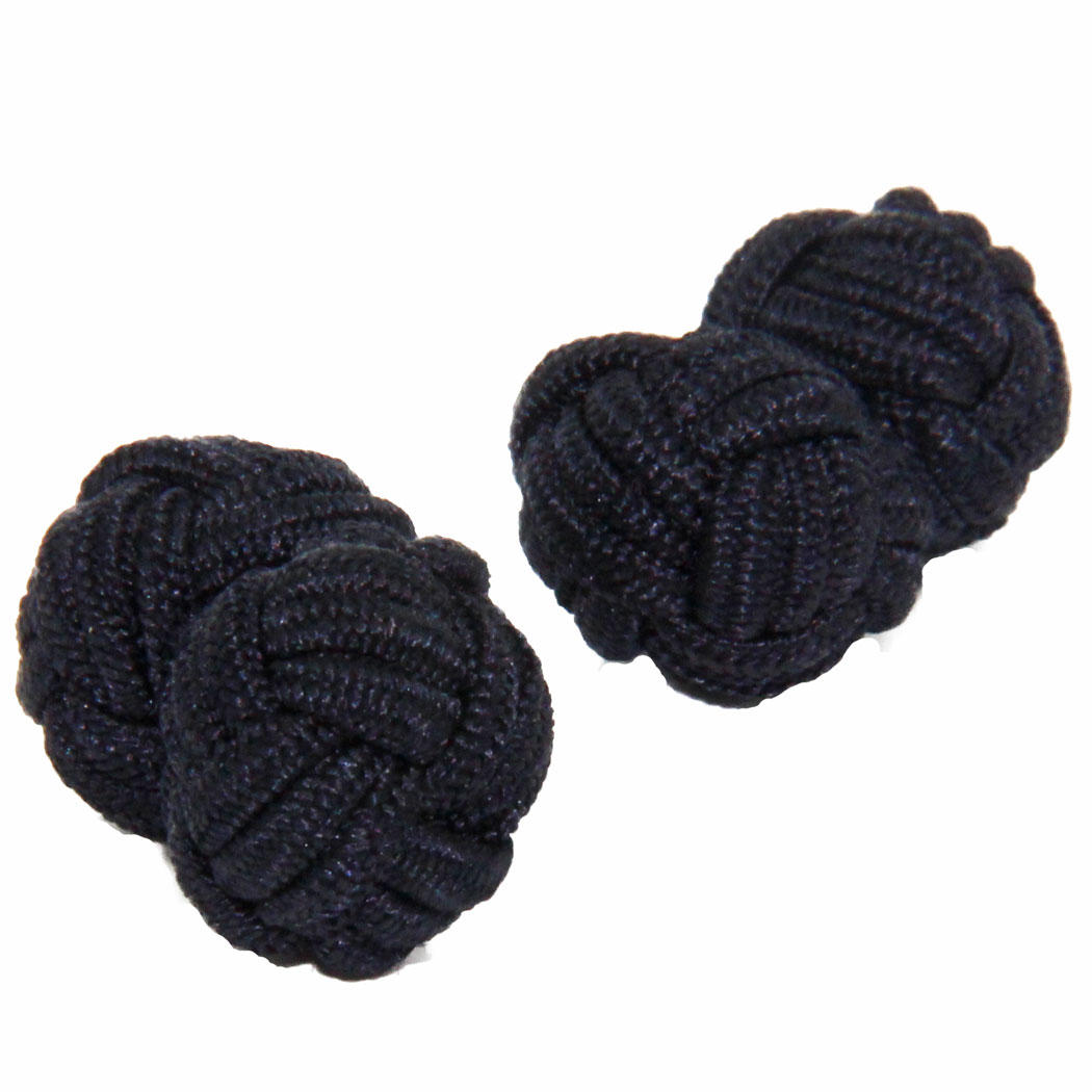 Black Silk Knot Cufflinks from Cuffs & Co