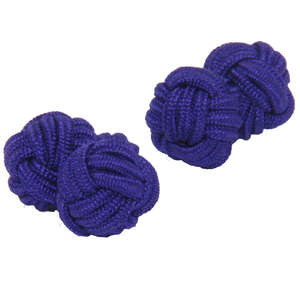 Vibrant Purple Silk Knot Cufflinks from Cuffs & Co