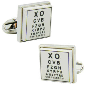 Eye Test Cufflinks from Cuffs & Co