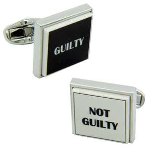 Guilty and Not Guilty Cufflinks from Cuffs & Co