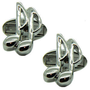 Quaver Musical Note Cufflinks from Cuffs & Co