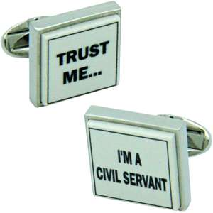 Trust Me I'm A Civil Servant Cufflinks from Cuffs & Co