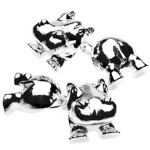 Hippo Chain Link Cufflinks from Cuffs & Co