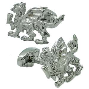 Welsh Dragon Cufflinks from Cuffs & Co