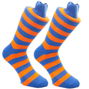 Tango & Royal Blue Stripy Socks | SOCK CLUB® from Cuffs & Co