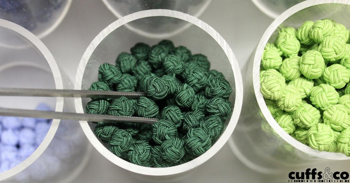 Silk Knot Cufflinks from Cuffs & Co