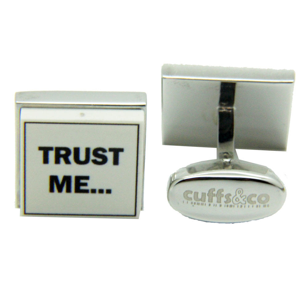 Trust Me I'm An Estate Agent Cufflinks from Cuffs & Co
