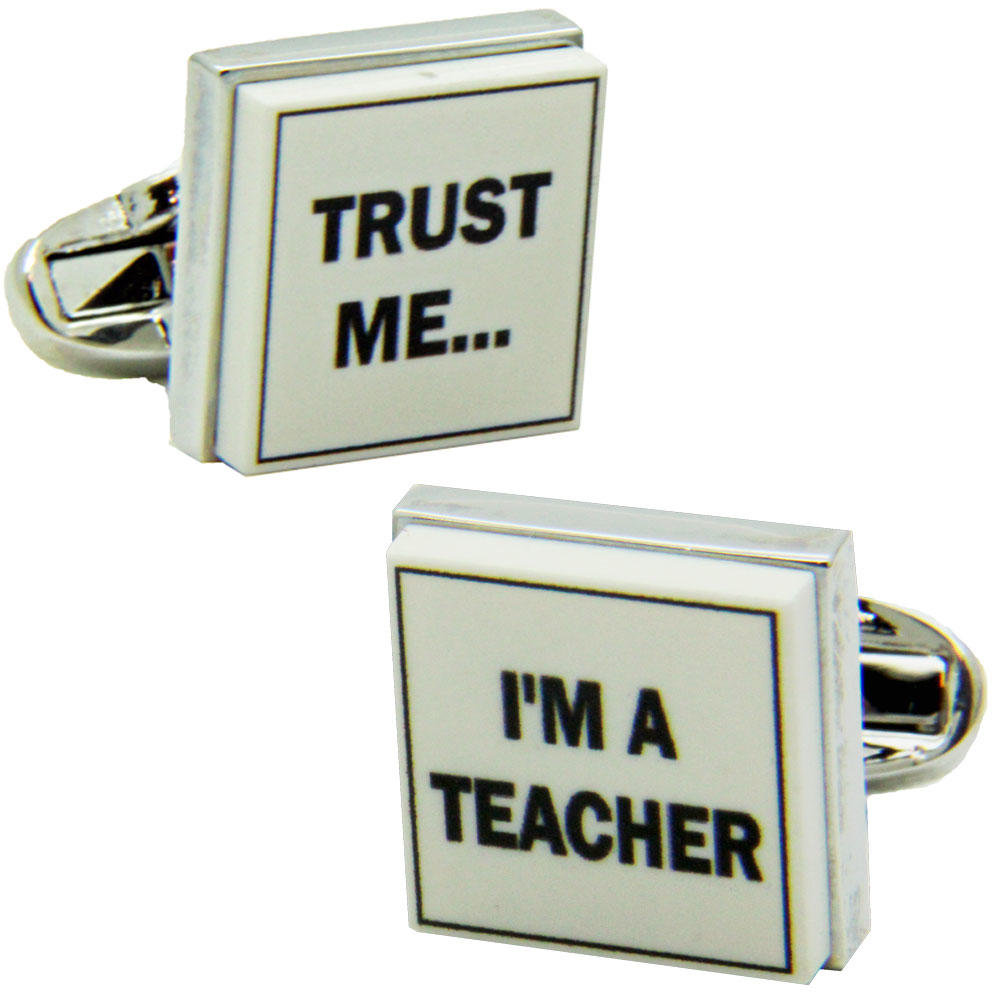 Trust Me I'm a Teacher Cufflinks from Cuffs & Co