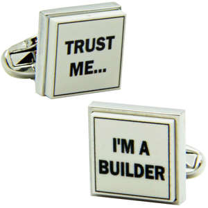 Trust Me I'm A Builder Cufflinks from Cuffs & Co