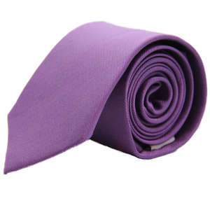 Purple Narrow Woven Silk Tie from Cuffs & Co