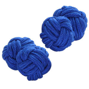 Royal Blue Silk Knot Cufflinks from Cuffs & Co