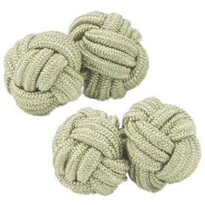 Olive Knot Cufflinks from Cuffs & Co