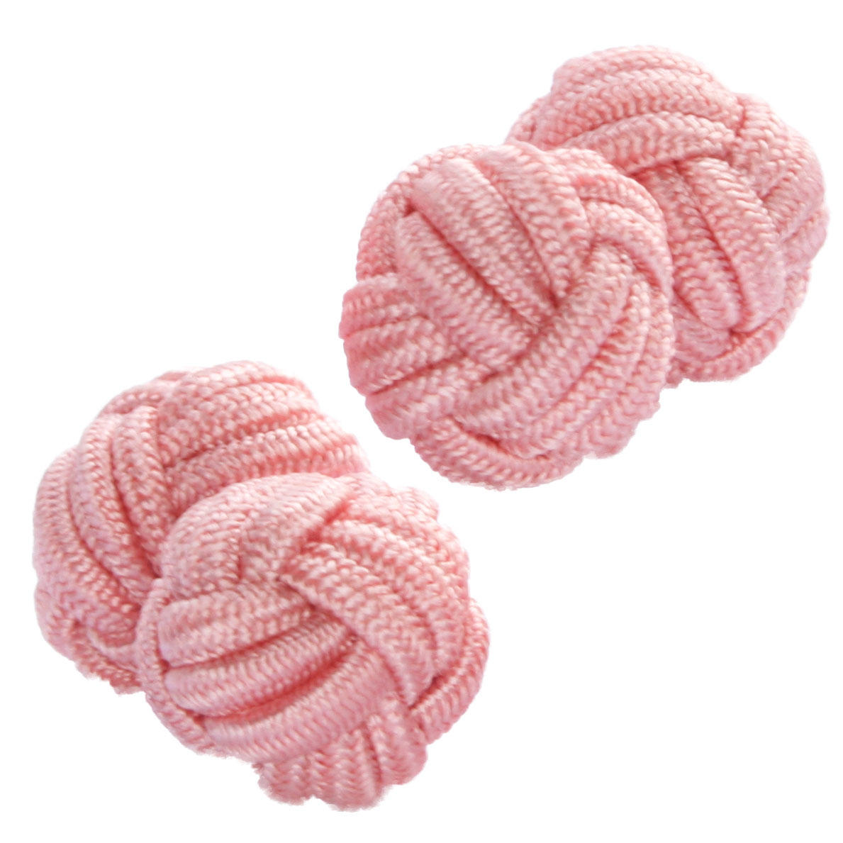 Coral Pink Silk Knot Cufflinks from Cuffs & Co