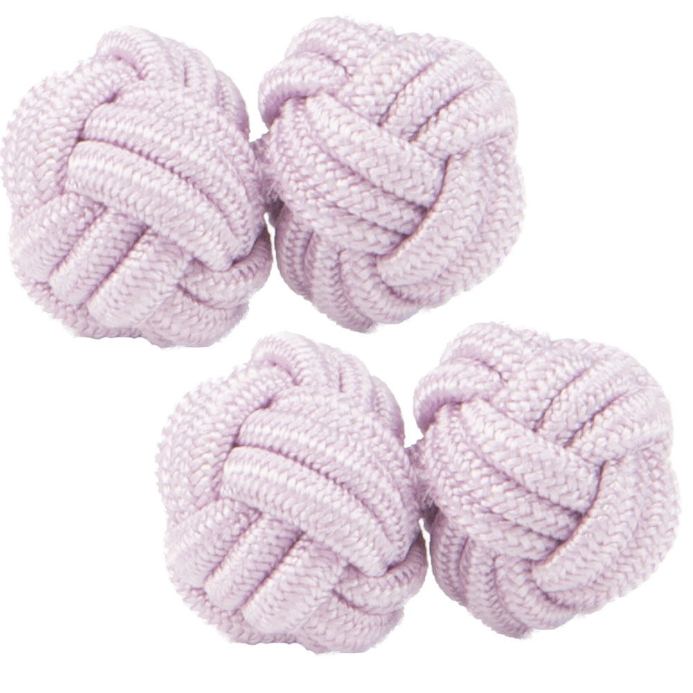 Lavendar Pink Silk Knot Cufflinks from Cuffs & Co
