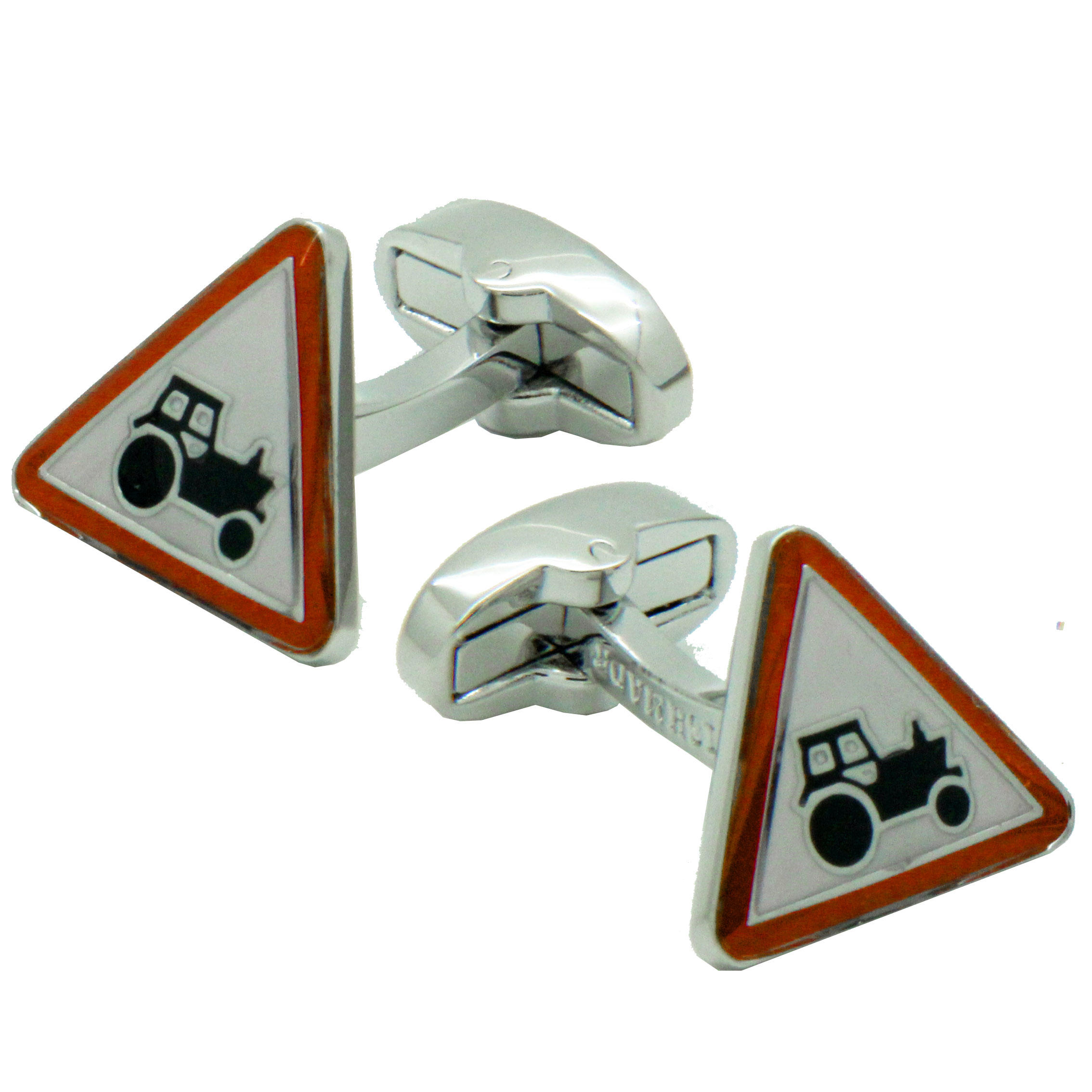 Farm Tractor Sign Cufflinks from Cuffs & Co