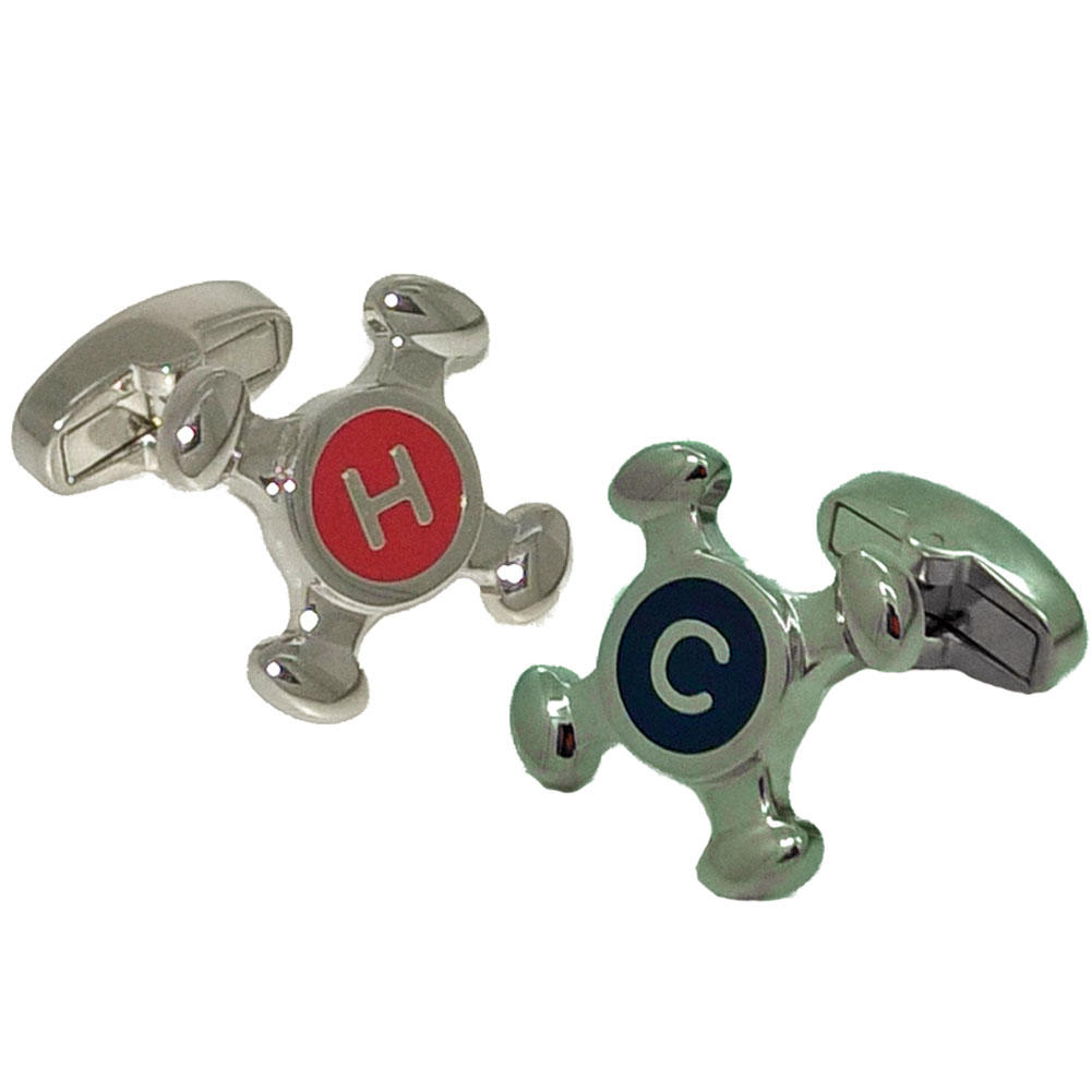 Hot and Cold Tap Cufflinks from Cuffs & Co