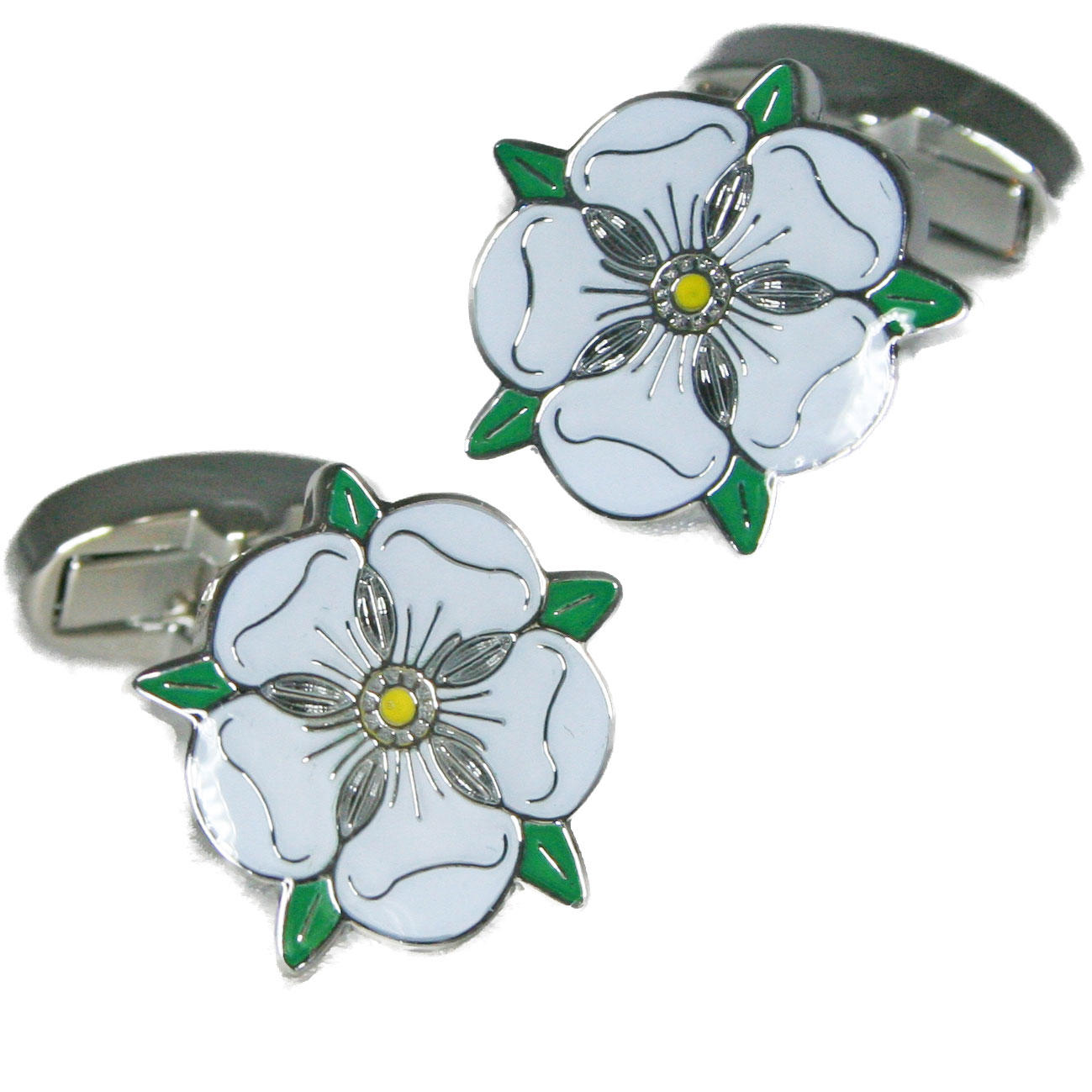 Yorkshire Rose Cufflinks from Cuffs & Co