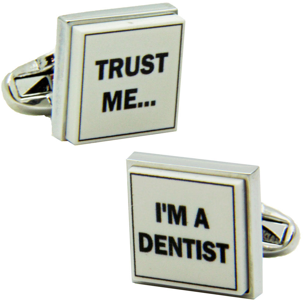 Trust Me I'm a Dentist Cufflinks from Cuffs & Co