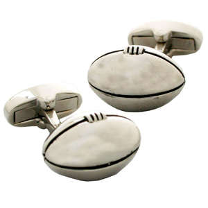 Rugby Ball Cufflinks from Cuffs & Co