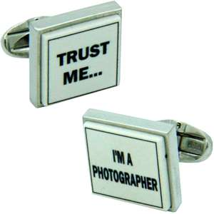 Trust Me I'm A Photographer Cufflinks from Cuffs & Co