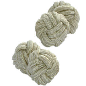Beige Knot Cufflinks from Cuffs & Co