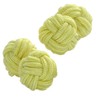 Lemon Silk Knot Cufflinks from Cuffs & Co