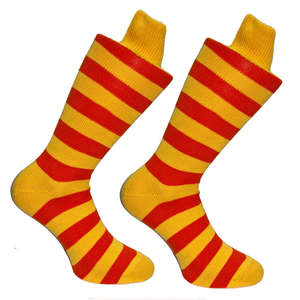 Orange & Yellow Stripy Socks | SOCK CLUB® from Cuffs & Co