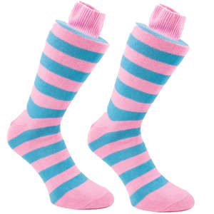 Blue & Pink Stripy Socks | SOCK CLUB® from Cuffs & Co