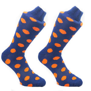 Navy & Tango Spotty Socks | SOCK CLUB® from Cuffs & Co