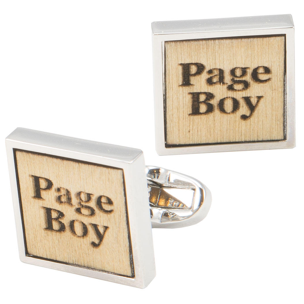 Birch Wood Page Boy Cufflinks from Cuffs & Co