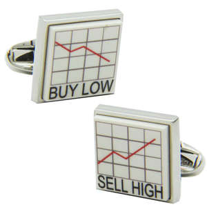 Buy Low and Sell High Cufflinks from Cuffs & Co