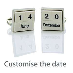 Customisable Perpetual Calendar Style Cufflinks from Cuffs & Co