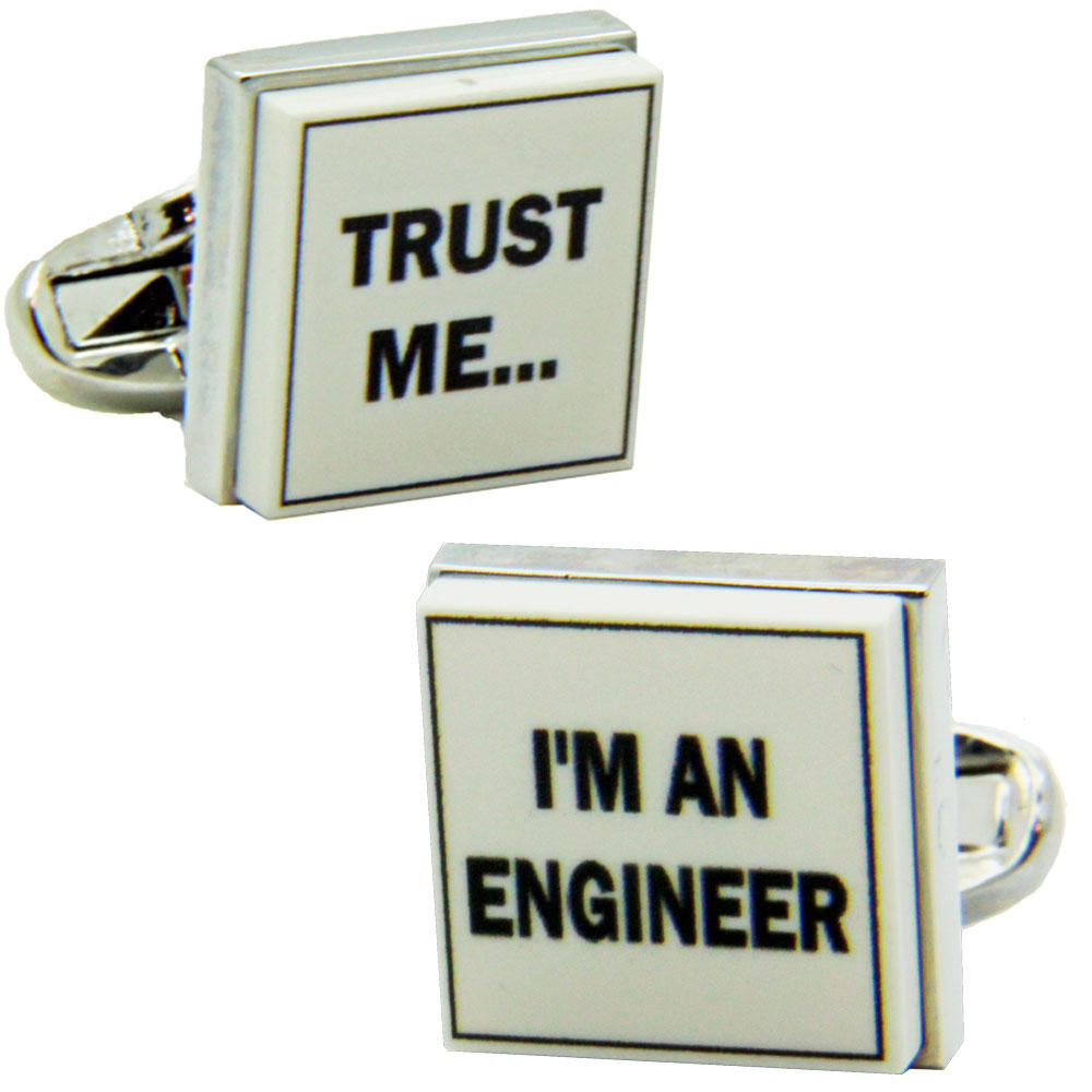Trust Me I'm An Engineer Cufflinks from Cuffs & Co