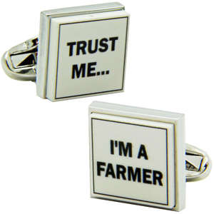 Trust Me I'm A Farmer Cufflinks from Cuffs & Co