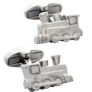 Steam Train Cufflinks from Cuffs & Co