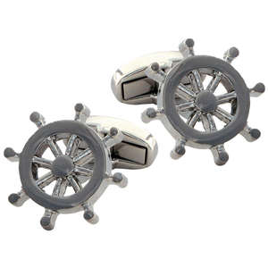 Ship's Wheel Cufflinks from Cuffs & Co